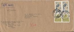 Burma Cover Sent Air Mail To England Rangoon 4-8-1971 Topic Stamps BIRDS - Myanmar (Burma 1948-...)