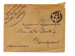 Lettre Franchise Cachet Alger + ? D'algerie - Manual Postmarks