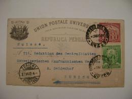 PERU - ENTIRE POSTAL SENT FROM CUZCO TO ZURICH (SWITZERLAND) IN 1902 IN THE STATE - Peru
