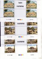 Polynésie  299A/301A Tahiti D'autrefois Bloc De 2 Coin Daté 4 11 1987 Neuf** MNH Sin Charnela - Nuovi