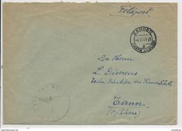 1943 - GG (POLOGNE) - ENVELOPPE FELDPOST De ZAMOSC (LUBLIN) => THANN - Gobierno General