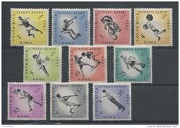 COSTA RICA - POSTE AERIENNE - YVERT SERIE N° 301/310 ** - COTE = 28.5 EURO - JEUX OLYMPIQUES DE ROME 1960 - Costa Rica