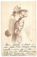 2 Femmes En Costume Tenant Une Raquette De Tennis - Illustratori & Fotografie