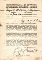 WW2 - BELGIUM - ANTWERPEN - MARIA TER HEIDE, Entlassungsschein, Certificat, POW Gefangenensammelstelle - Documenti