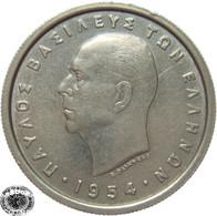LaZooRo: Greece 2 Drachmai 1954 XF / UNC - Griechenland