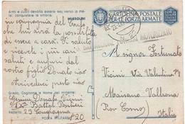 CARTOLINA POSTALE PER LE FORZE ARMATE  POSTA MILITARE N°20 IX BATTAGLIONE PONTIERI MOTORIZZATO - Zonder Portkosten
