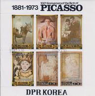 Korea DPK - 1982 -  Anniversary Picasso  - Mi  2145/51 - Used - Korea, North