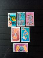 POLYNESIE . 1969 - 70 .  Poste Aériènne N° 28 Et 34 à 39 .  6 Oblitérés. Côte Yvert 31,20 €. - Polinesia Francese