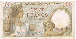 FRANCE BILLET DE 100 FRANCS   RB. 28 -11-1940    N°887                   BI5 - 1871-1952 Circulated During XXth