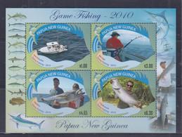 Papua New Guinea 2010 Game Fishing Sheetlet MNH - Papua-Neuguinea