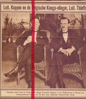 Orig. Knipsel Coupure Tijdschrift Magazine - Brussel , Holland Huis - Piloot Lt Koppen - 1928 - Ohne Zuordnung
