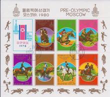 Korea DPK - 1978 -  Pre Olimpic Games 80 - Sport Equestri  - Mi  - Used - Korea, North