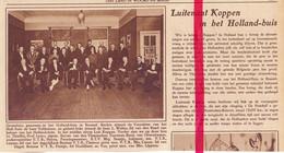 Orig. Knipsel Coupure Tijdschrift Magazine - Brussel , Holland Huis - Piloot Luitenant Koppen - 1928 - Ohne Zuordnung