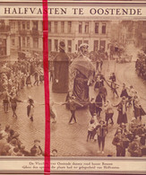 Orig. Knipsel Coupure Tijdschrift Magazine - Oostende - Halfvasten Carnaval - 1928 - Unclassified