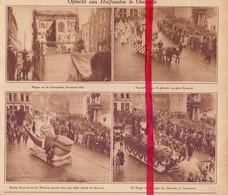Orig. Knipsel Coupure Tijdschrift Magazine - Oostende - Optocht Halfvasten Carnaval - 1928 - Unclassified