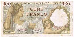 FRANCE BILLET DE 100 FRANCS   LL. 8 -1-1942    N°519                   BI6 - 1871-1952 Circulated During XXth