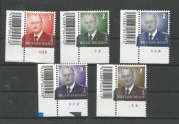 OCB 3695 ==> 3699 Postfris Zonder Scharnier **  Met Plaatnummer - 1993-.. MVTM