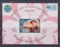 Papua New Guinea 2010 World Girl Guides Centenary S/S MNH - Papua-Neuguinea