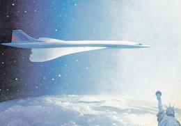 CONCORDE  AIR FRANCE  - Invitation  Par Le Club Aérophilatélique Concorde - 1946-....: Modern Tijdperk