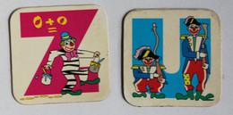 2 Magnets Alphabet Clown Lettre Z Et U Mini-Babybel - Gervais Années 90 - Magnete