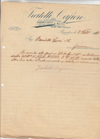BRINDISI- FABBRICANTI DI BOTTI - - LETTERA COMMERCIALE  DEL 1911-FORI DA ARCHIVIO - Italy