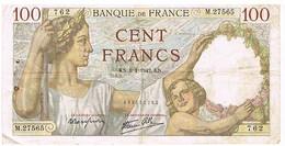 FRANCE   BILLET DE 100 FRANCS KN  . 8 -1-1942    N°762                   BI8 - 1871-1952 Circulated During XXth
