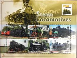 Montserrat 2004 Steam Locomotives Sheetlet MNH - Montserrat