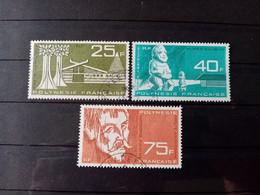 POLYNESIE . 1965  .  Poste Aériènne N° 11.12.13  .  3 Oblitérs . Côte Yvert 29,30 €. - Polinesia Francese