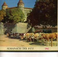 France  Almanach PTT  1962  Intérieur Dept Hérault Et Plan Montpellier - Calendari