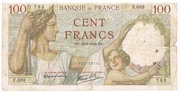 FRANCE   BILLET DE 100 FRANCS  DV  . 14 -9-1939    N°785                   BI9 - 1871-1952 Circulated During XXth