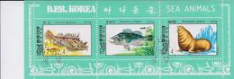 Korea DPK - 1979 -  Sea Animals  - Mi  1937/39- Used - Korea, North