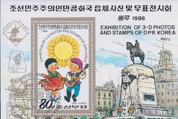 Korea DPK - 1986 -  Exhibitions 3-D Photos - Mi  - Used - Korea, North