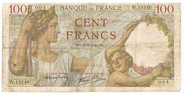 FRANCE   BILLET DE 100 FRANCS  PO  . 16 -8-1940    N°004                   BI10 - 1871-1952 Circulated During XXth