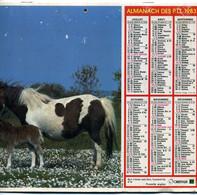 France  Almanach PTT  1983  Intérieur Dept Vendée Et Plans Luçon, Fontenay Le C.,La Roche Sur Y. - Calendari