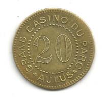 JETON De CASINO // AULUS // GRAND CASINO DU PARC // 20 Francs - Casino