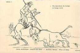 Themes Div-ref FF448-illustrateur -serie Artistique-satirique-caricature Guillaume 2 Le Kaiser-bouchon De Liege-belgique - Weltkrieg 1914-18