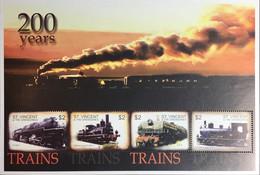 St Vincent 2004 Steam Locomotives Sheetlet MNH - St.Vincent & Grenadines