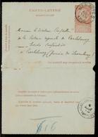 Relais Carlsbourg(Paliseul) Sterstempel 6 AOUT 1896 (COBA 15) Aankomst Op Kaartbrief Uit Jemappes - Sellos Con Estrellas