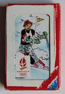 Ancien Jeu De 7 Familles Cartes JO Jeux Olympiques D'Albertville 1992 Ski Nordique Bobsleigh Hockey Patinage - Kleding, Souvenirs & Andere