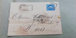LETTRE COURRIER // SECOND EMPIRE 1867 - NAPOELON III - BEZIERS VERS PARIS - 1849-1876: Klassieke Periode