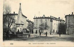 - Var -ref-B483- Saint Maximin - St Maximin - Place Malherbes - Fontaine - Fontaines - - Saint-Maximin-la-Sainte-Baume