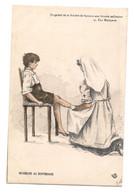 CPA ILLUSTREE CROIX ROUGE GUERRE 14 - INFIRMIERE AU DISPENSAIRE  ENFANT BLESSE - - Croce Rossa