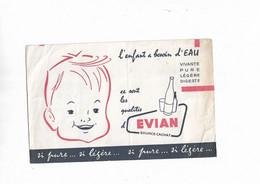 Buvard Ancien Eau  Evian Si Pure Si Légère - E