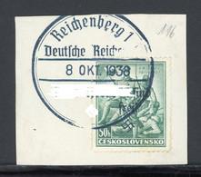 Sudetenland Reichenberg MiNr. 116 Briefstück Geprüft (MA774 - Sudetenland