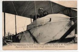 """Les Lieutenants LUCCA Et HENNEQUIN Sur Biplan """"M.Farman""""-appareil Course Paris-Rome (type Militaire à Deux Places) - Airmen, Fliers"""