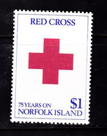 ISLAND NORFOLK RED CROSS CROIX ROUGE Neuf ** - Norfolk Island
