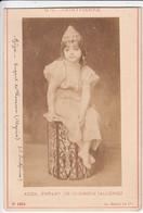 PHOTOGRAPHIE ORIGINALE - Carte-Album N°1614 AZIZA, ENFANT DE TLEMCEN (ALGERIE) De G.C. SAINTPIERRE - AD. BRAUN & Cie - Fotos