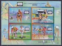 Papua New Guinea 2010 XIX Commonwealth Games Sheetlet MNH - Papua-Neuguinea