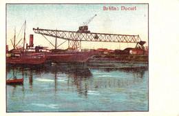 BRAILA : DOCURI / DOCKS In BRAILA HARBOUR : SHIPS On DANUBE ~ 1930 - '935 (af557) - Roumanie