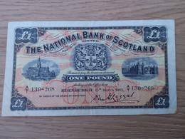 The National Bank Of Scotland One Pound 15 Mars 1943 - Bankbiljetten